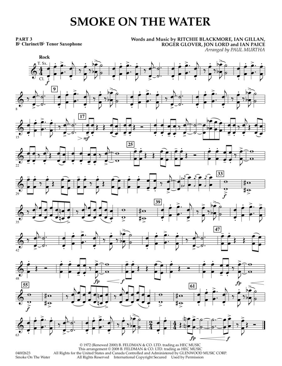 Smoke on the Water - Pt.3 - Bb Clarinet/Tenor Sax