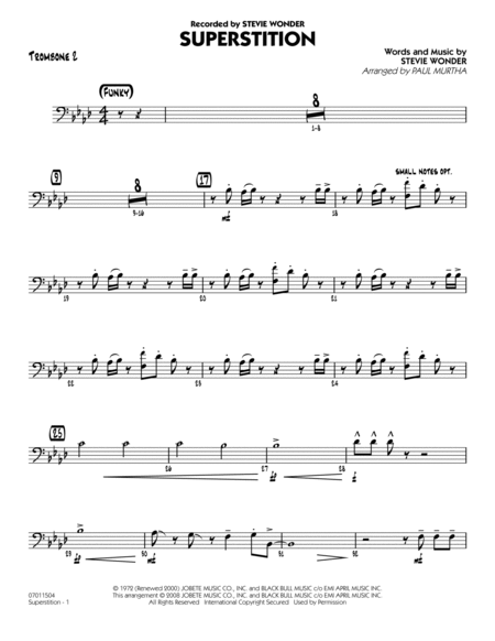 Superstition - Trombone 2
