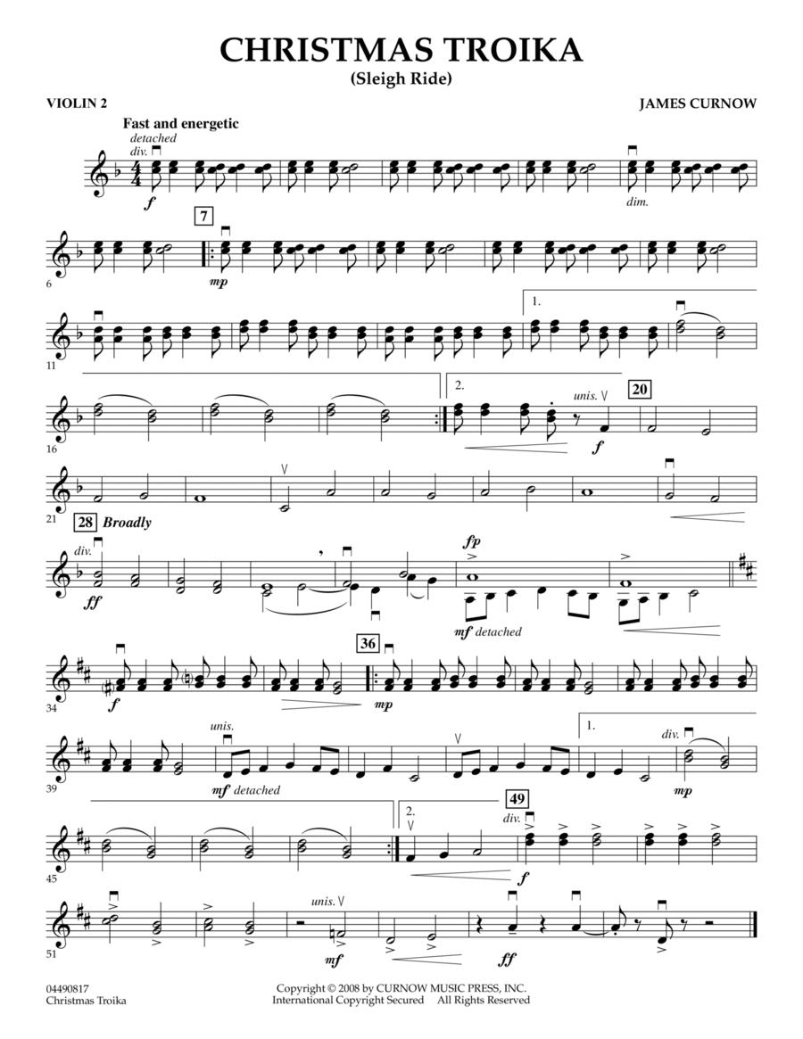 Christmas Troika - Violin 2