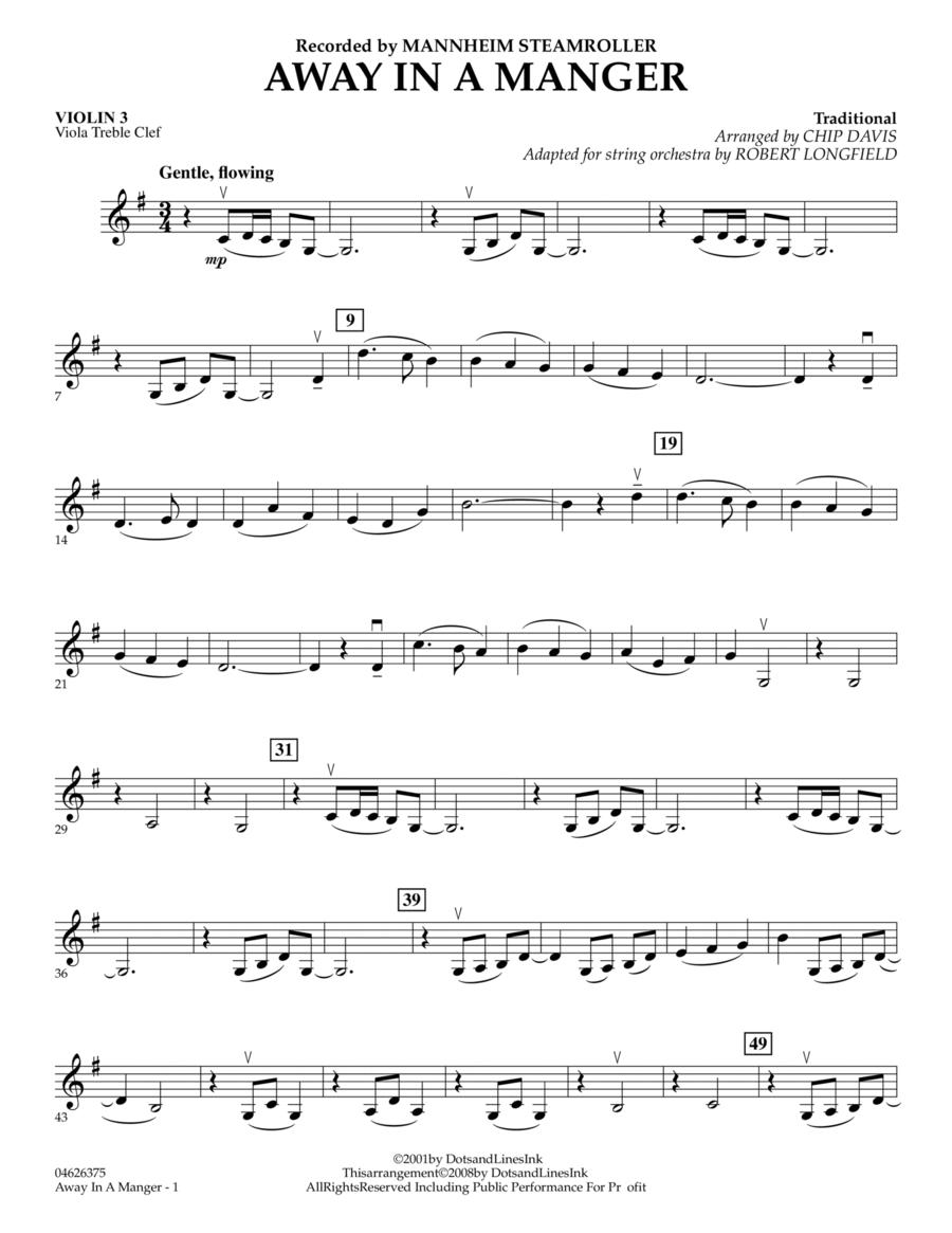 Away in a Manger - Violin 3 (Viola Treble Clef)