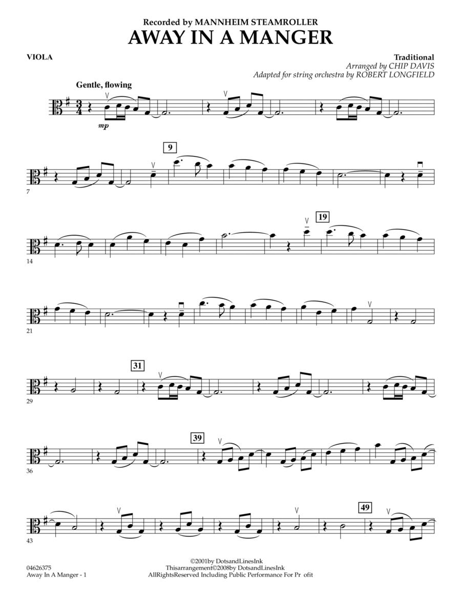 Away in a Manger - Viola