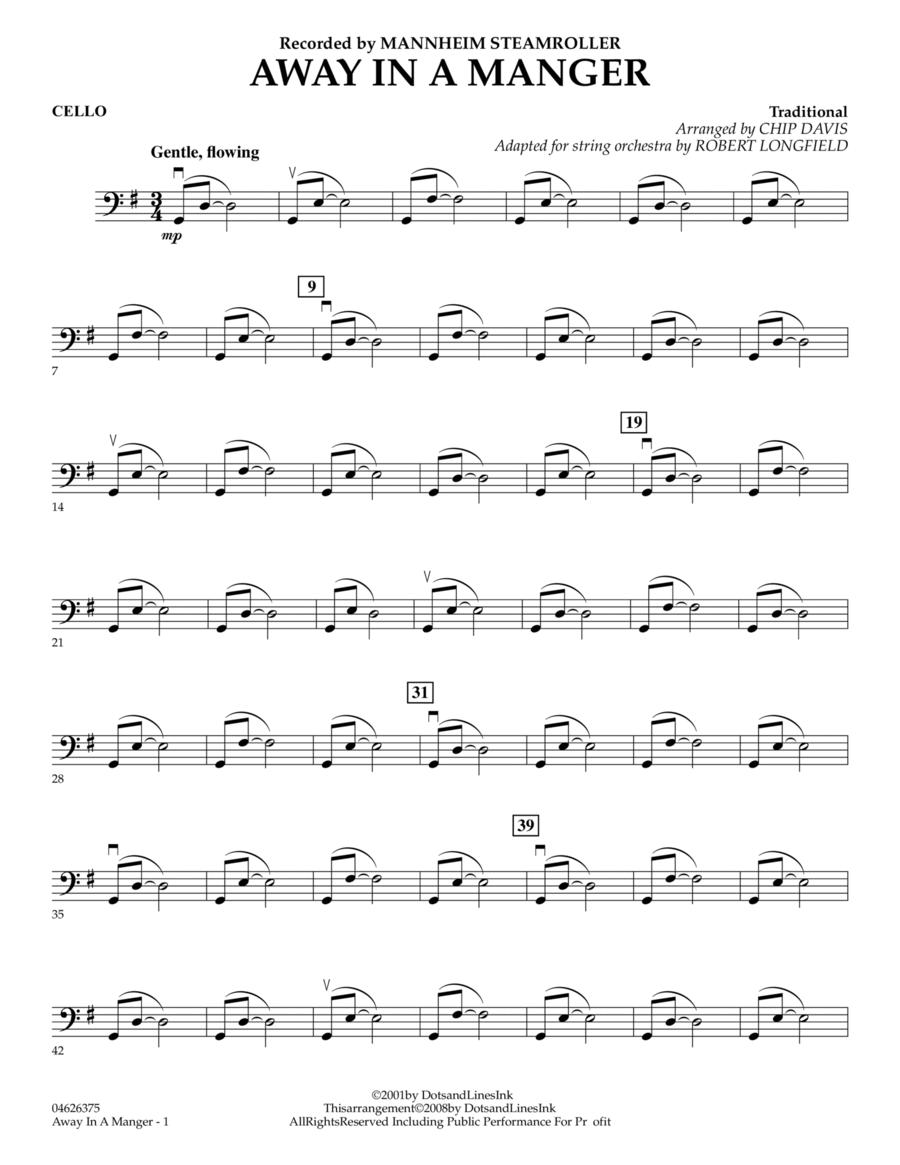 Away in a Manger - Cello