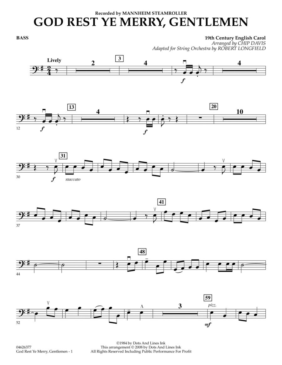 God Rest Ye Merry, Gentlemen - Bass