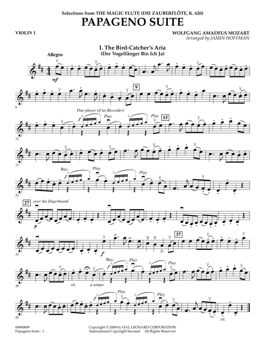 Papageno Suite - Violin 1