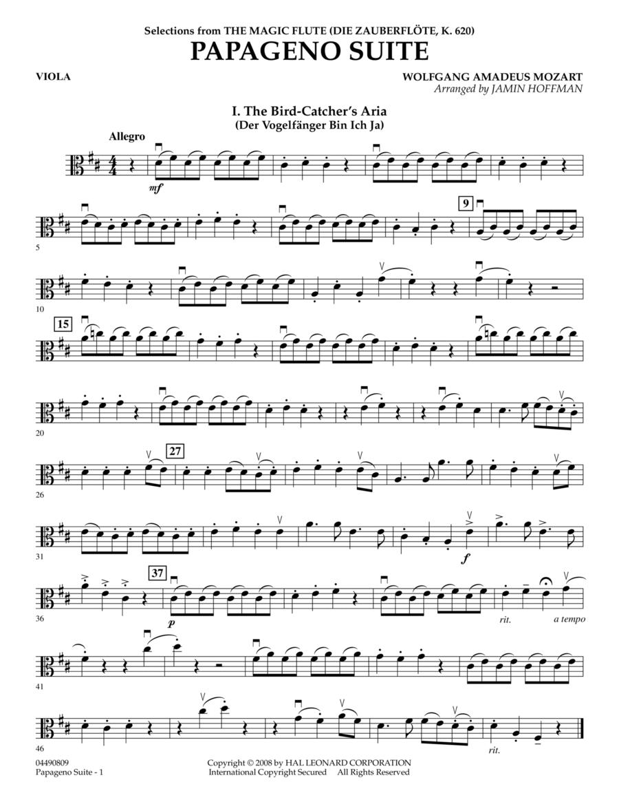Papageno Suite - Viola