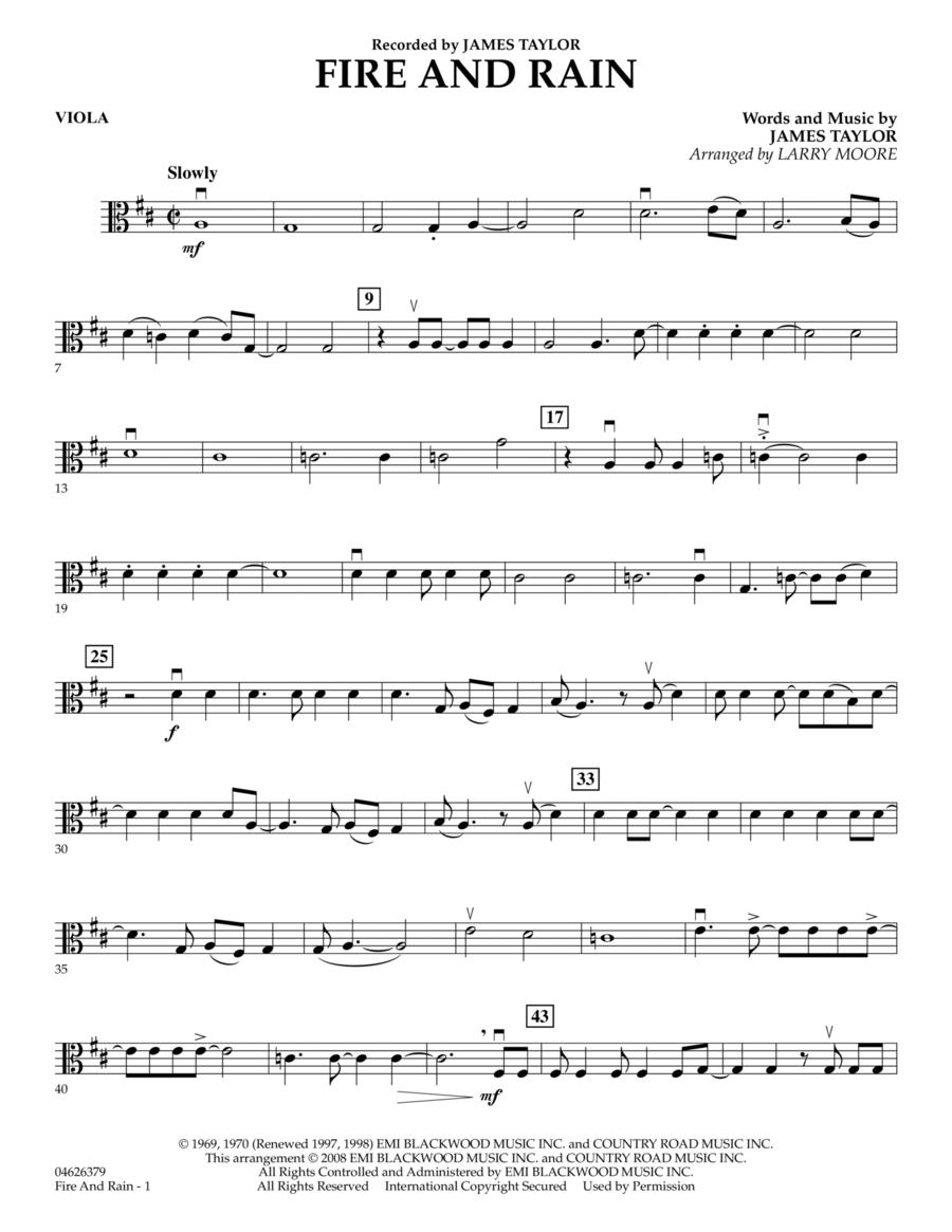 Fire and Rain - Viola