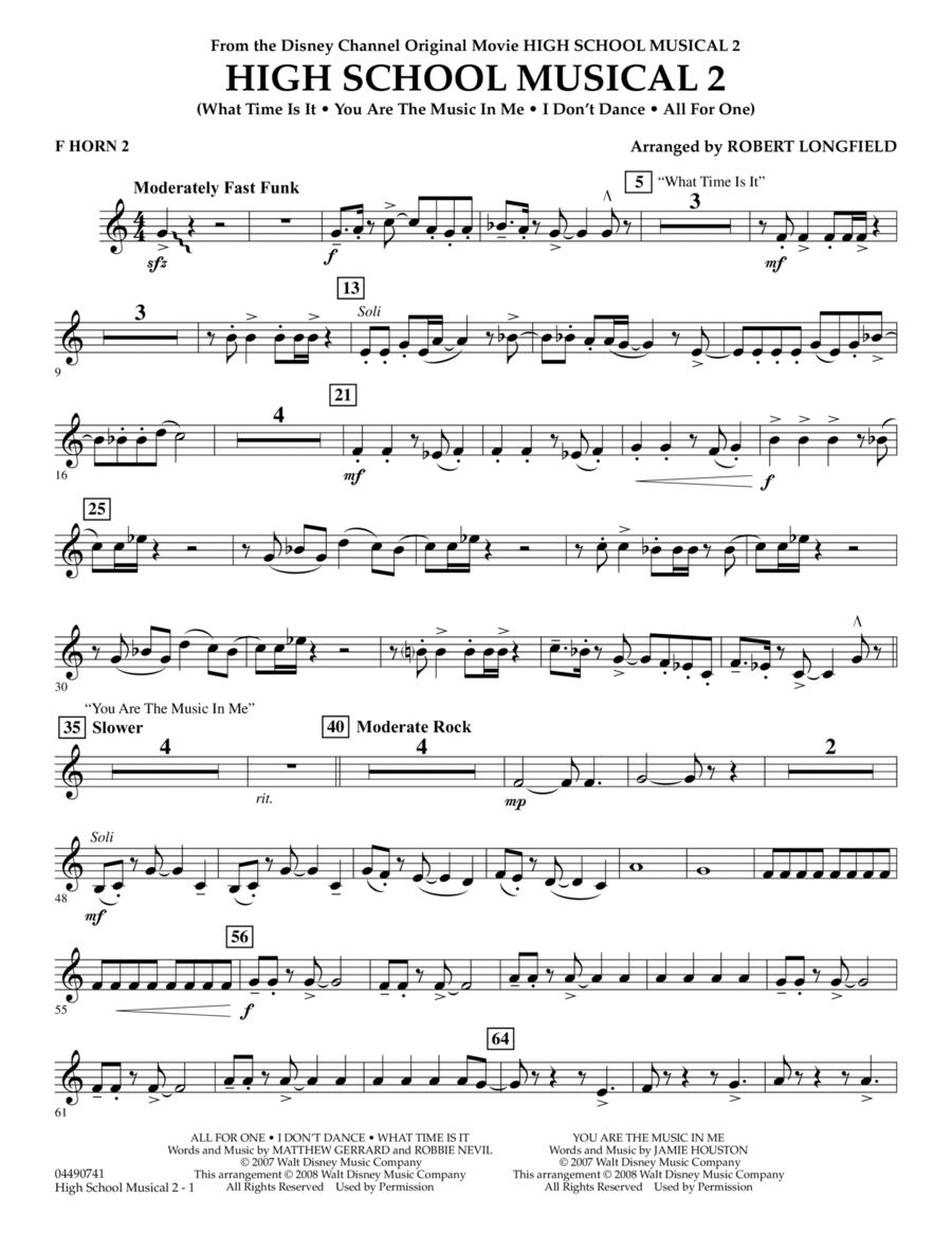 High School Musical 2 - F Horn 2