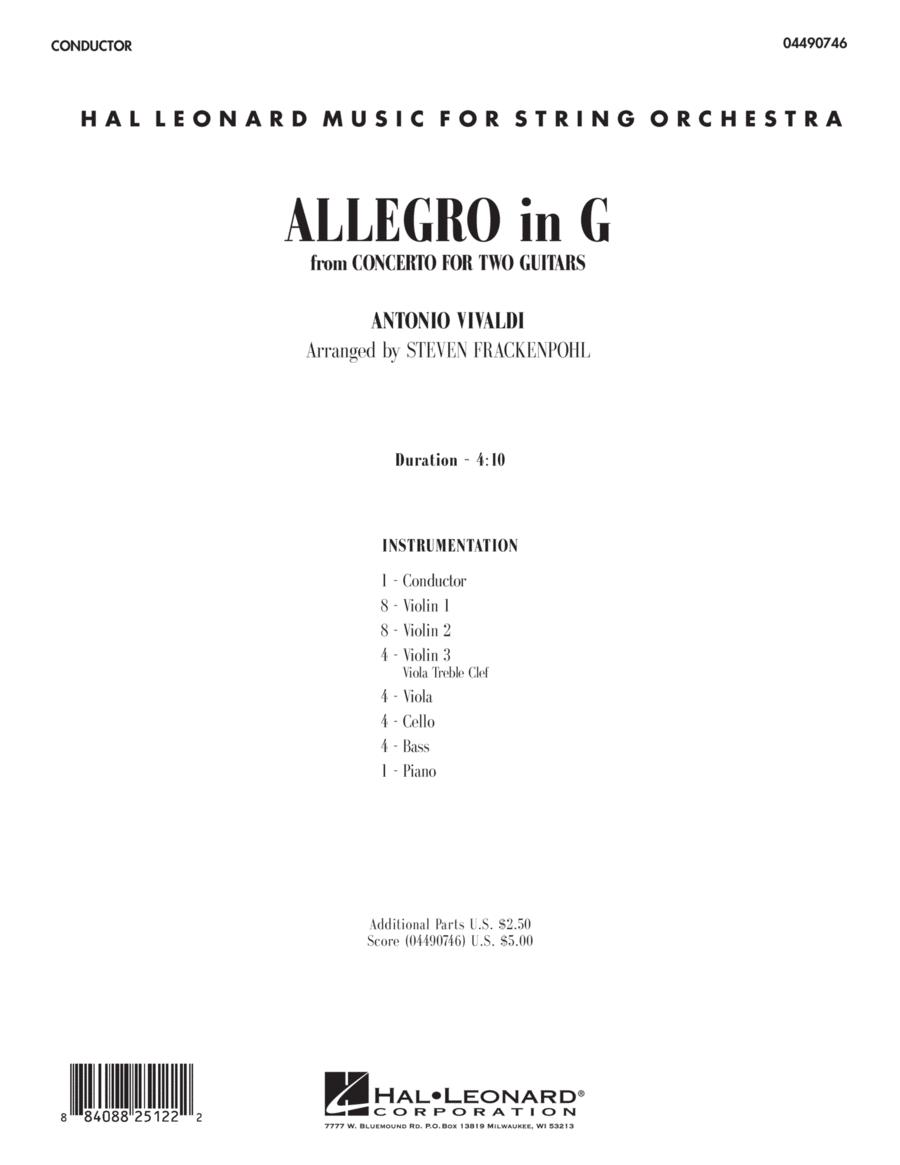 Allegro in G - Full Score