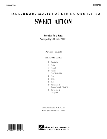 Sweet Afton - Full Score