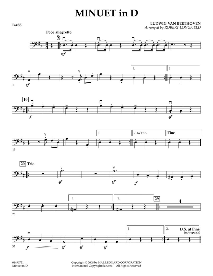 Minuet in D - Bass