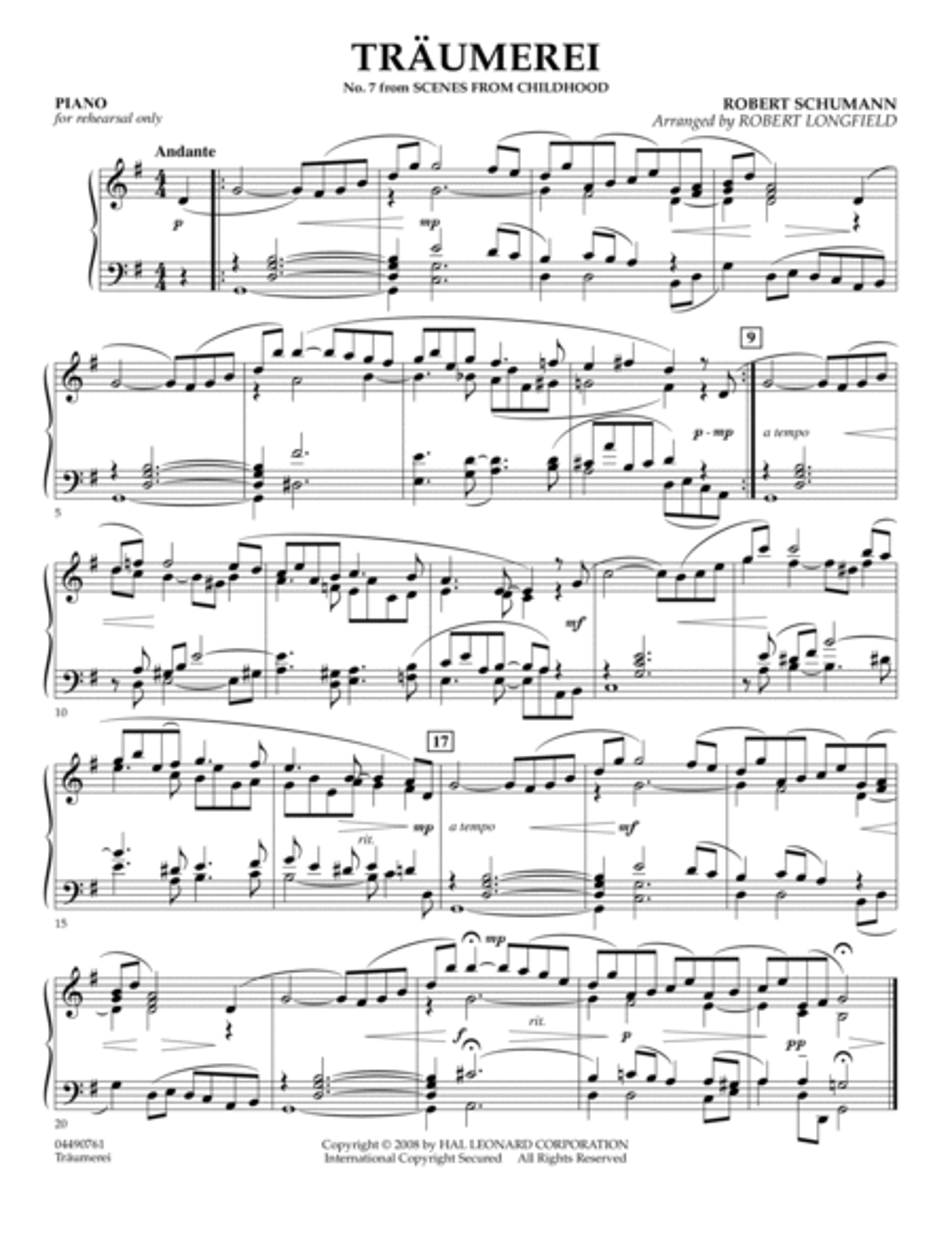 Traumerei - Piano