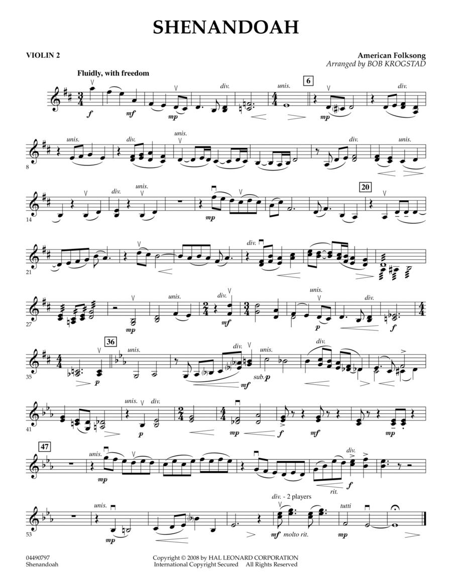 Shenandoah - Violin 2