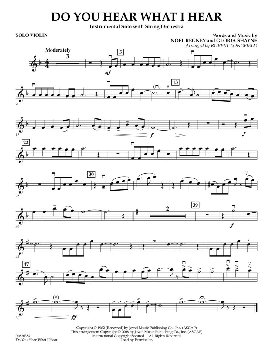 Do You Hear What I Hear - Solo Violin