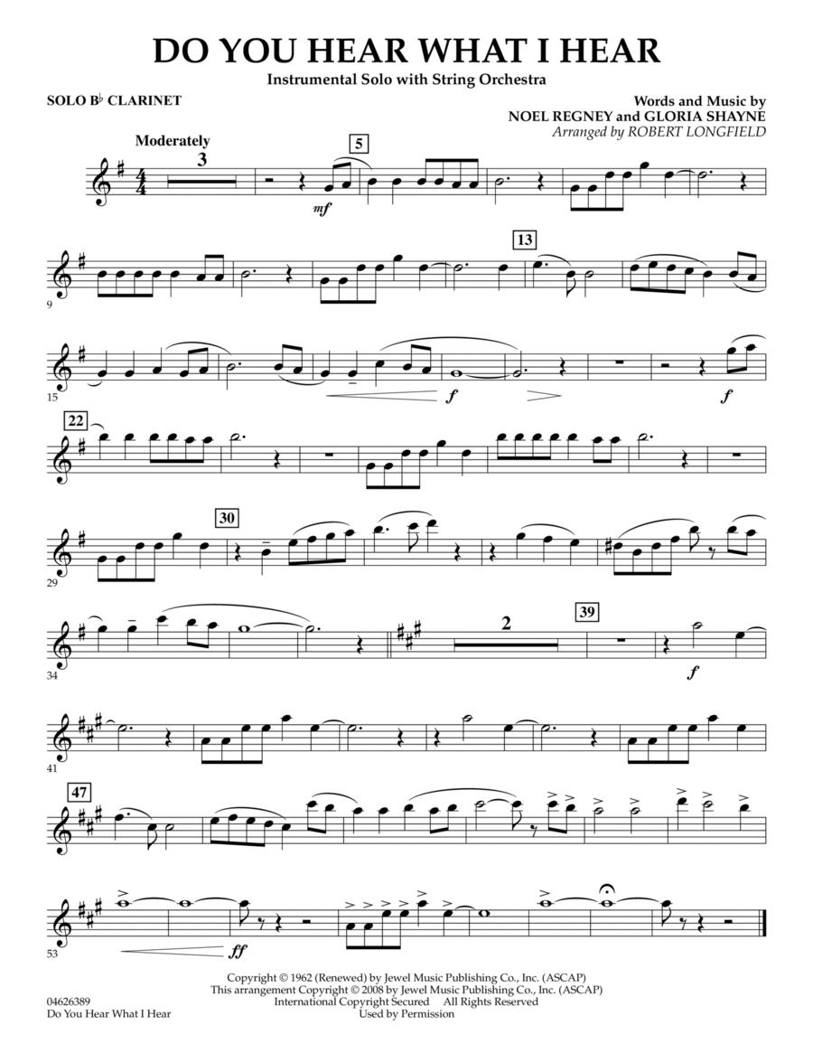 Do You Hear What I Hear - Solo Bb Clarinet