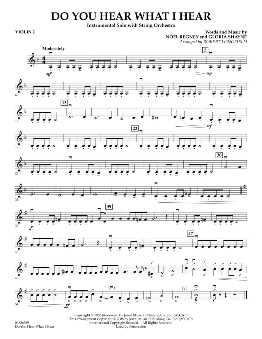 Do You Hear What I Hear - Violin 2