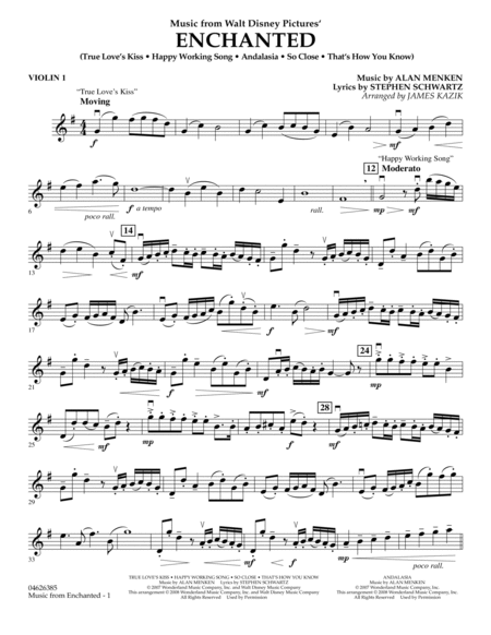 Music from Enchanted - Violin 1