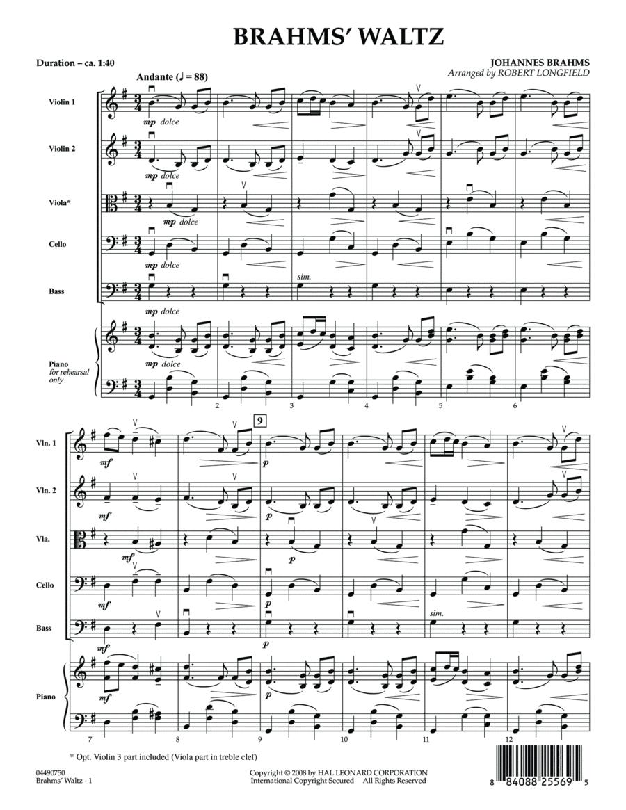 Brahms' Waltz - Full Score