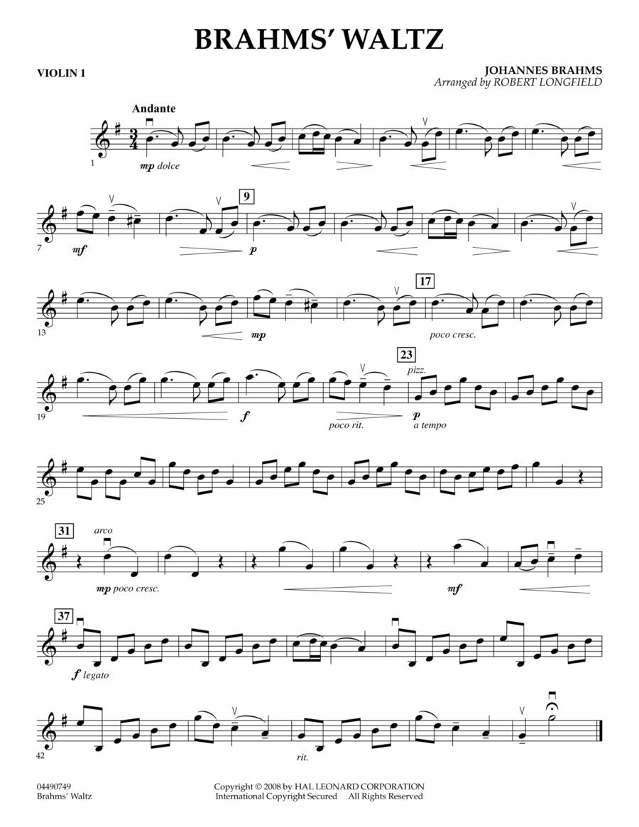 Brahms' Waltz - Violin 1