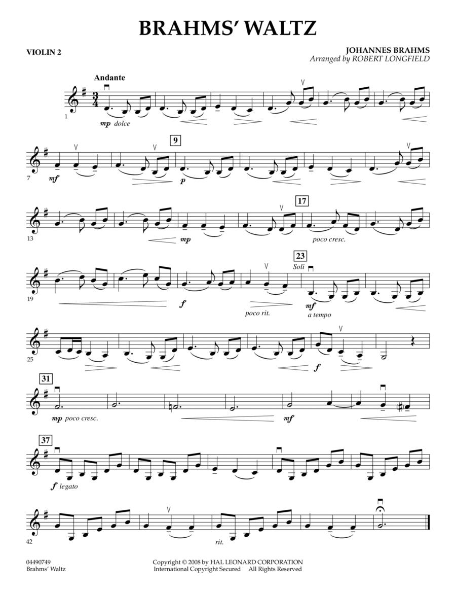 Brahms' Waltz - Violin 2