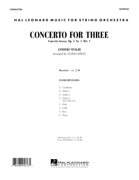 Concerto for Three - Full Score