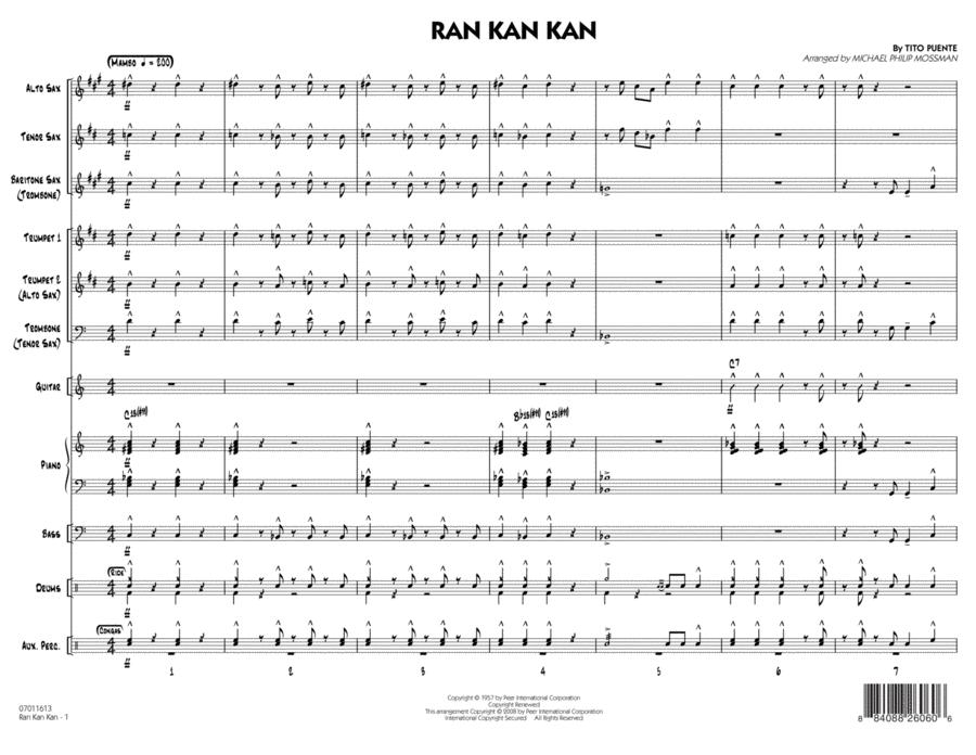 Ran Kan Kan - Conductor Score (Full Score)