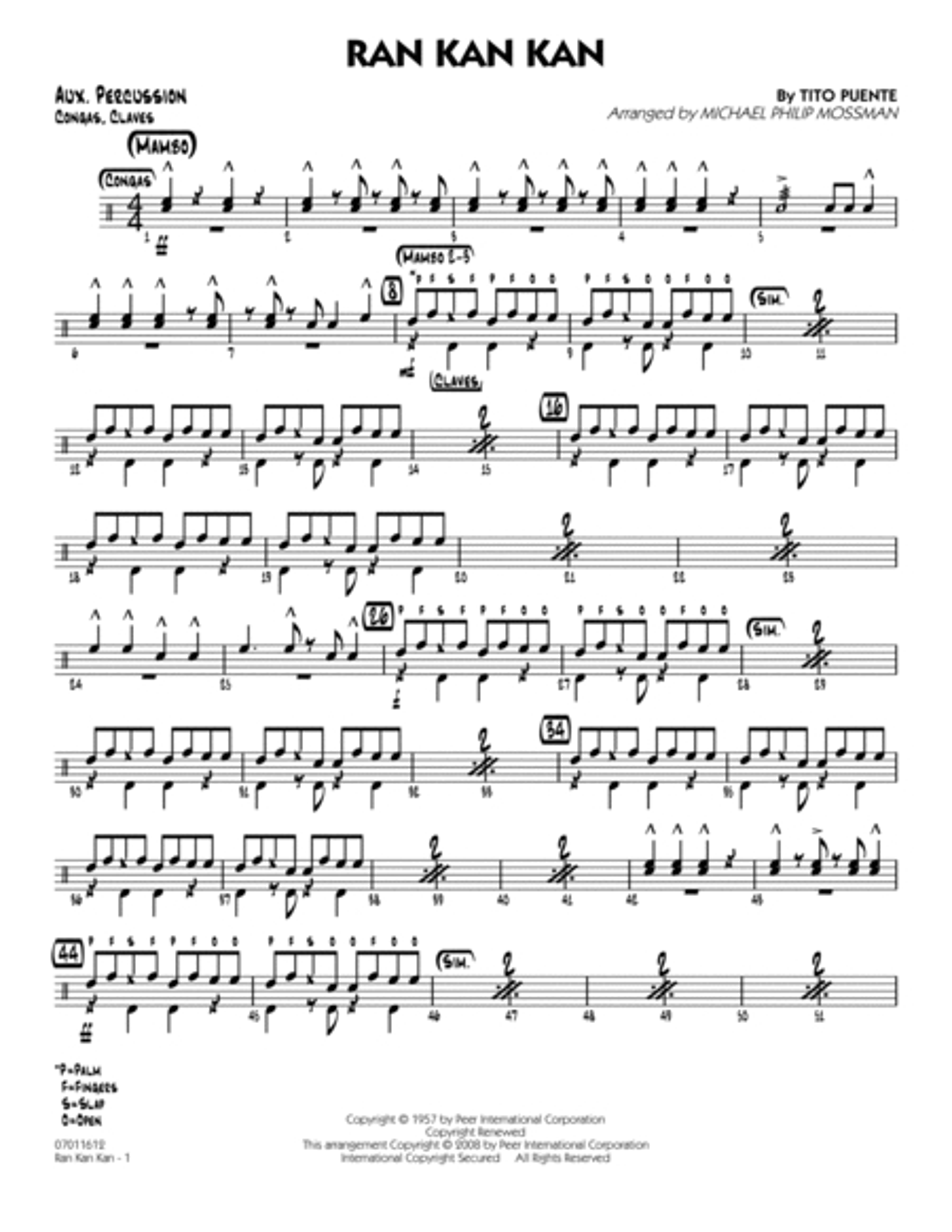 Ran Kan Kan - Aux Percussion