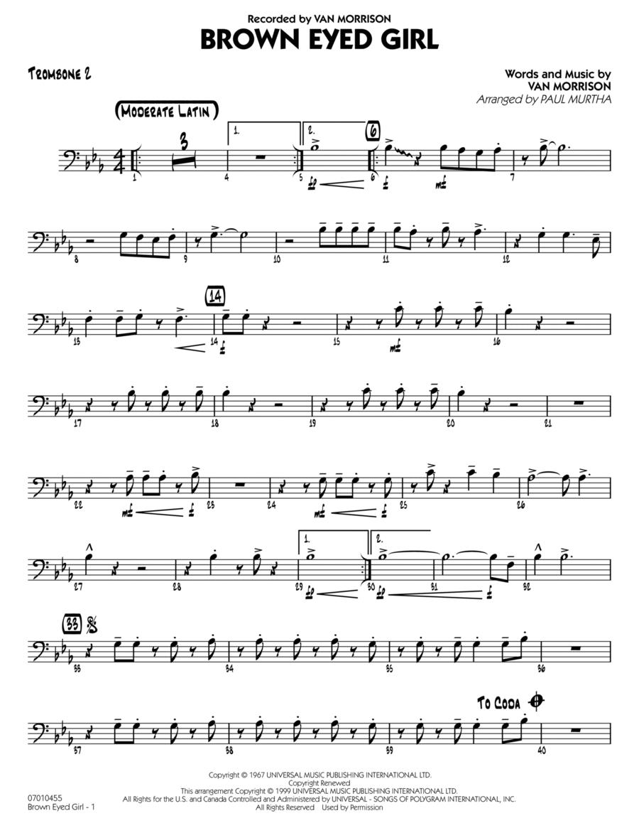 Brown Eyed Girl - Trombone 2