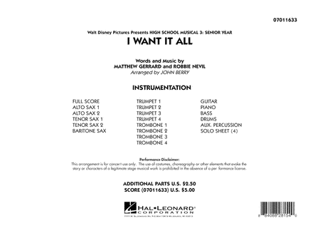 I Want It All (from