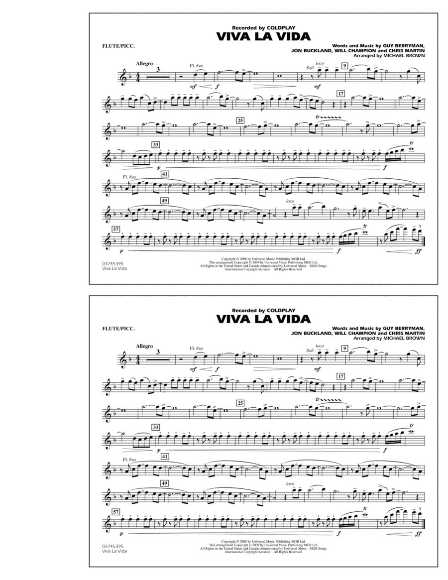 Viva La Vida - Flute/Piccolo