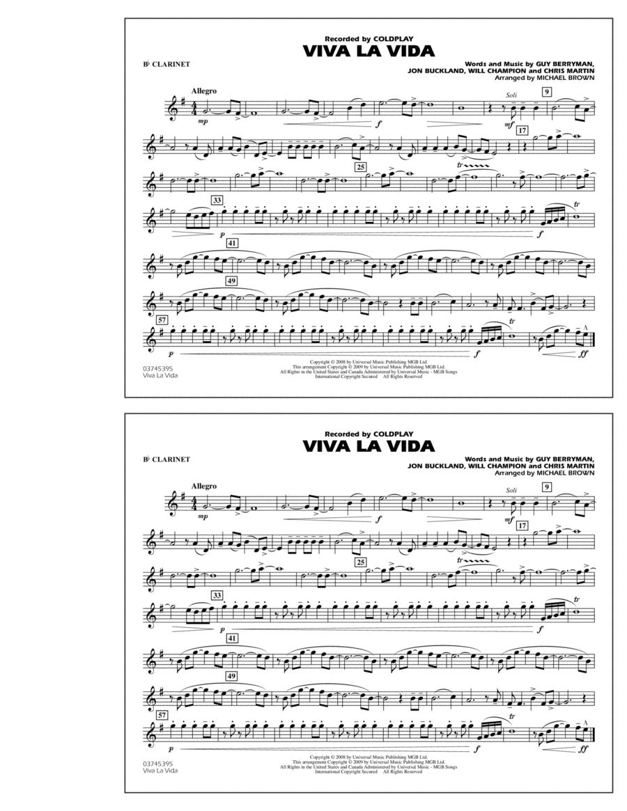Viva La Vida - Bb Clarinet