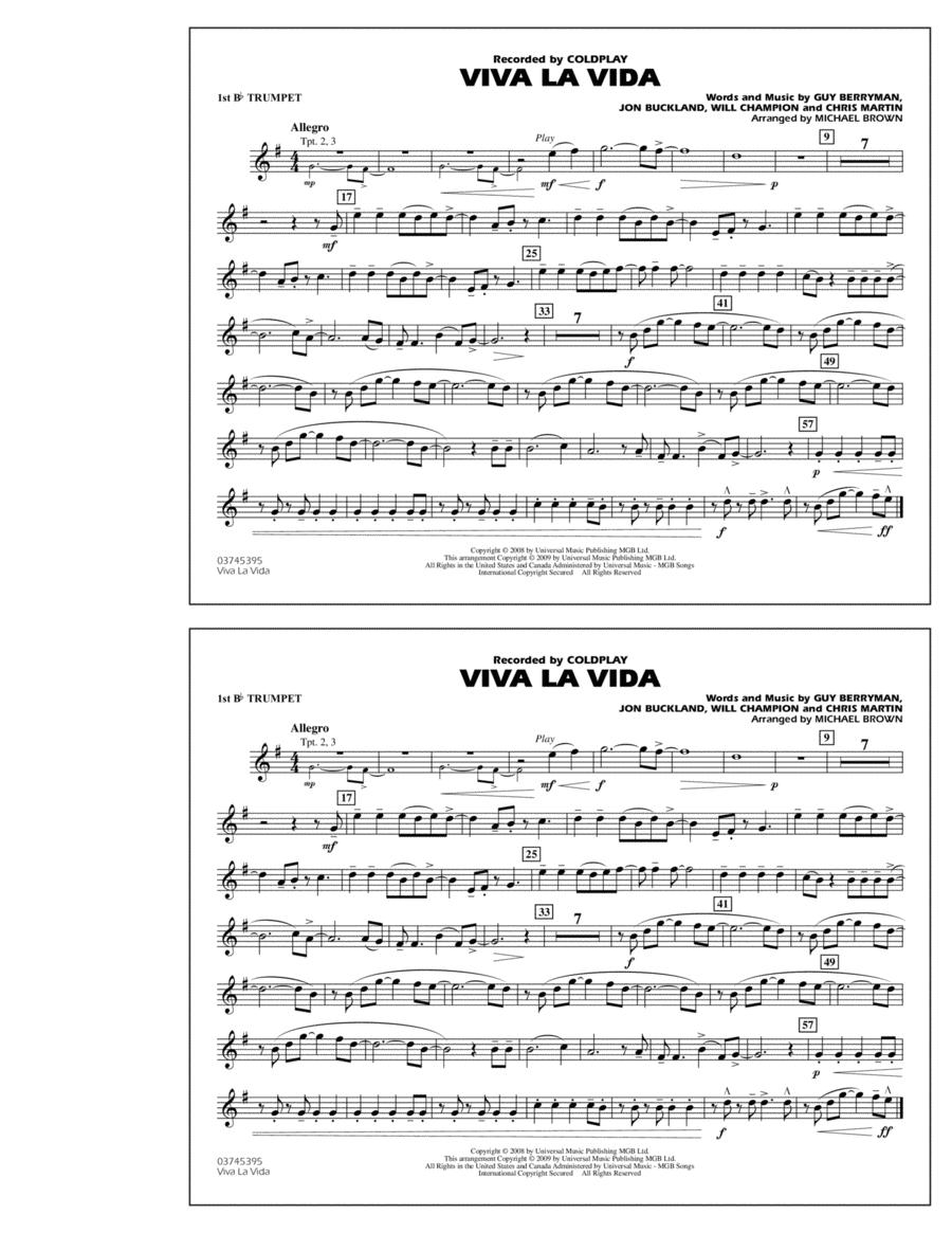 Viva La Vida - 1st Bb Trumpet