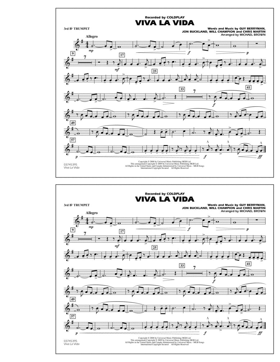 Viva La Vida - 3rd Bb Trumpet