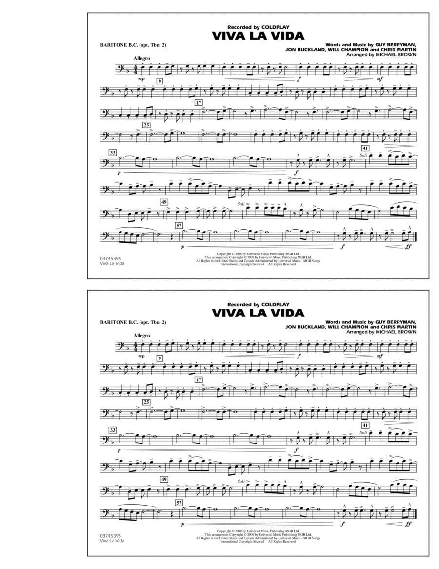 Viva La Vida - Baritone B.C. (Opt. Tbn. 2)