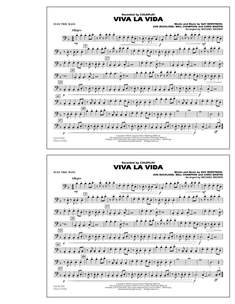 Viva La Vida - Electric Bass