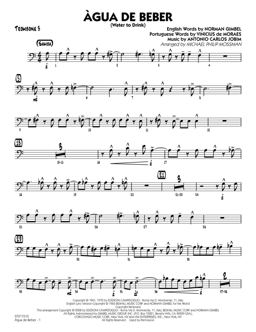 Agua de Beber (Water to Drink) - Trombone 3