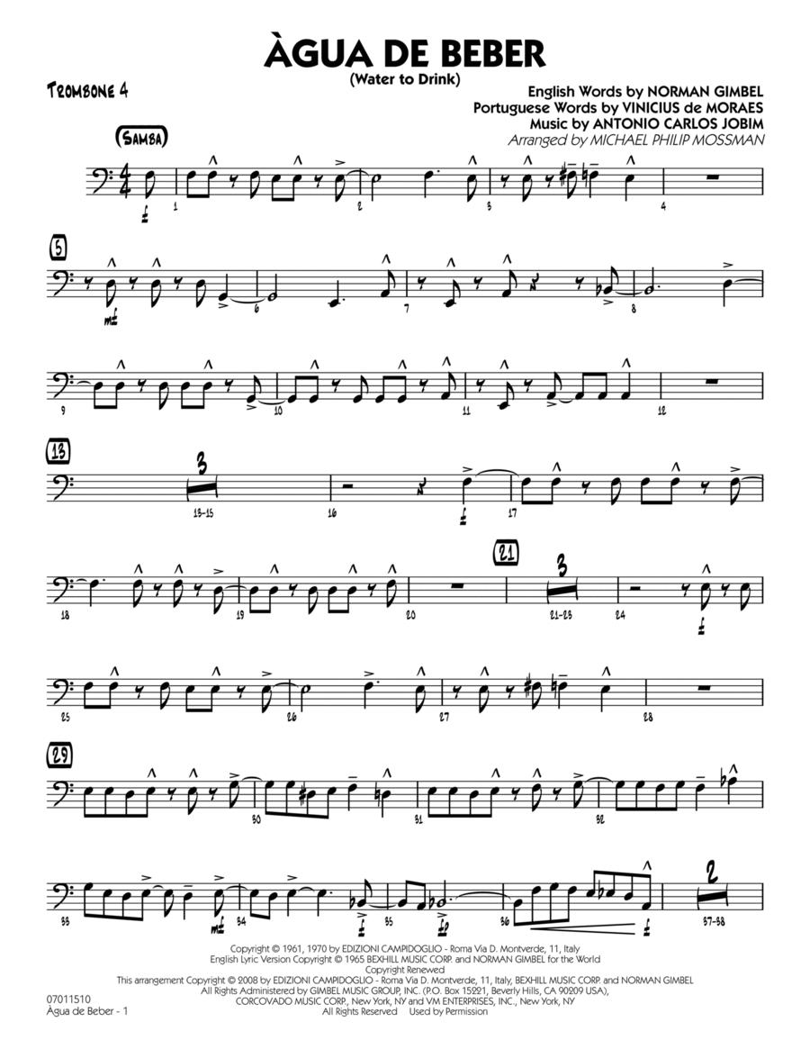 Agua de Beber (Water to Drink) - Trombone 4