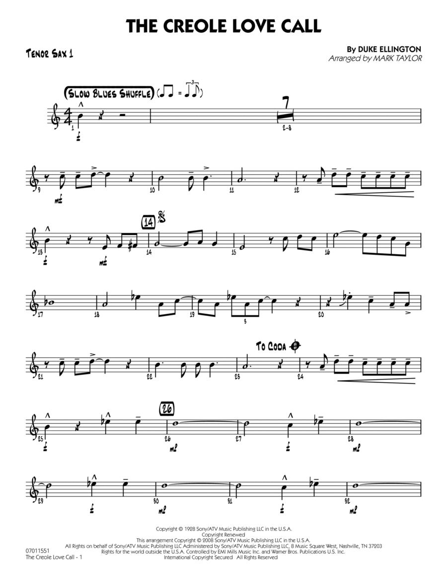 The Creole Love Call - Tenor Sax 1