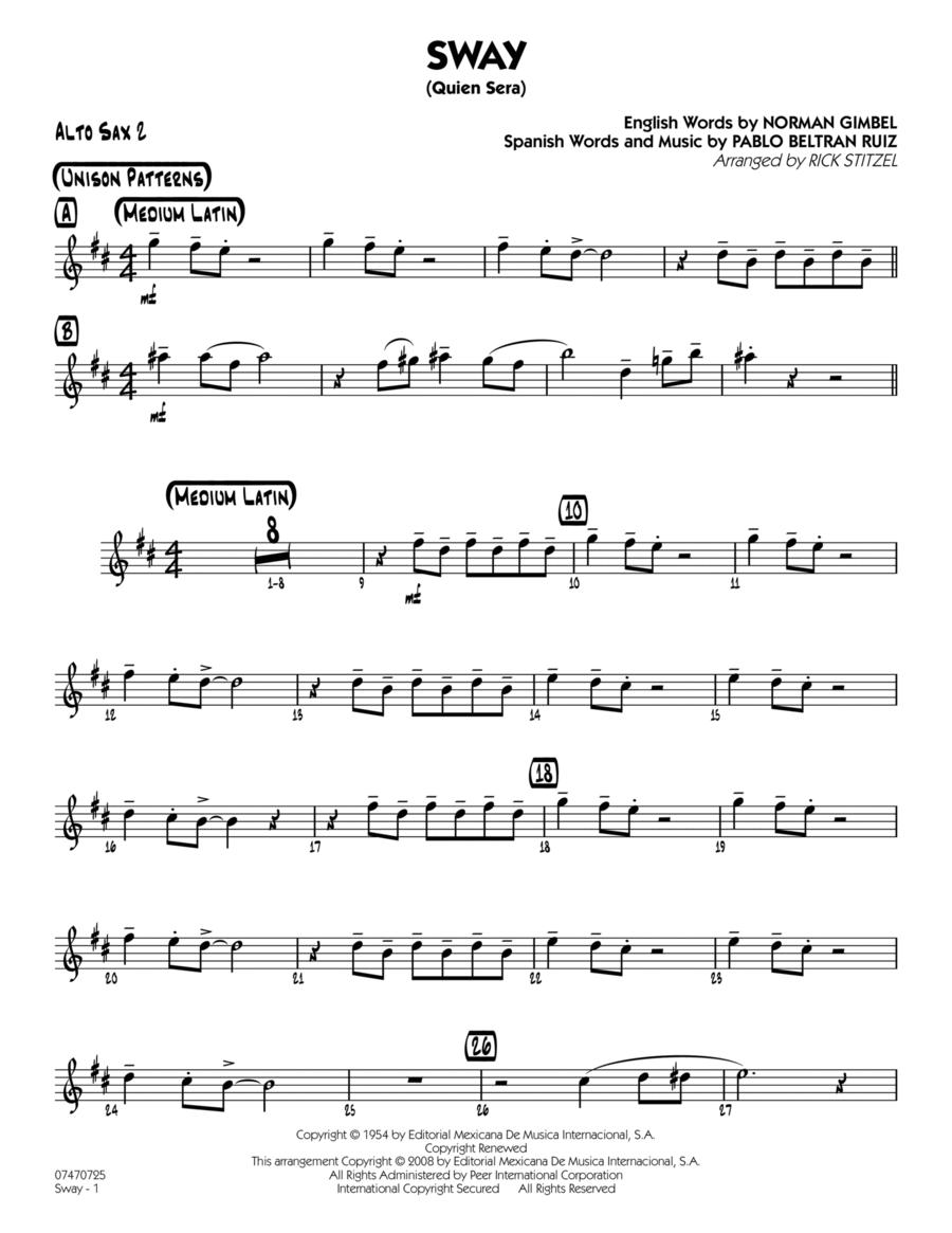 Sway (Quien Sera) - Alto Sax 2