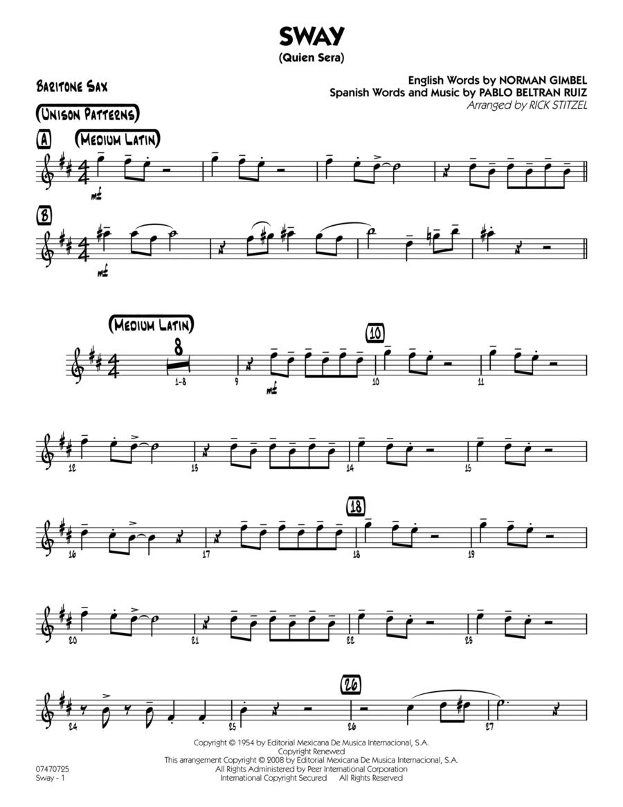 Sway (Quien Sera) - Baritone Sax