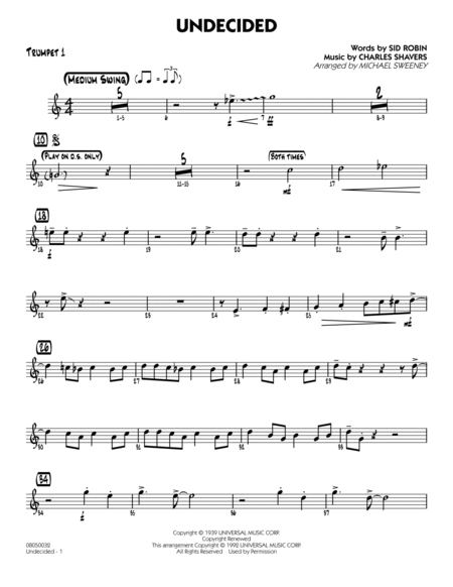 Undecided - Trumpet 1