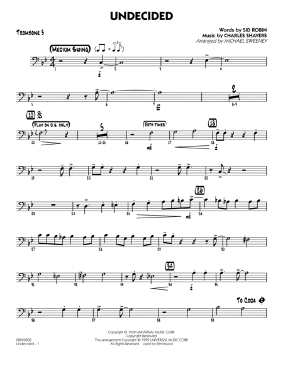 Undecided - Trombone 3