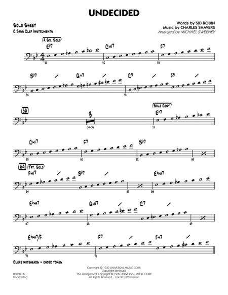 Undecided - C Bass Clef Solo