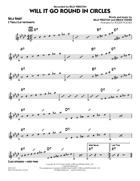 Will It Go Round in Circles? - C Solo Sheet