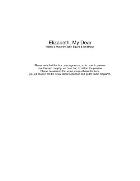 Elizabeth My Dear