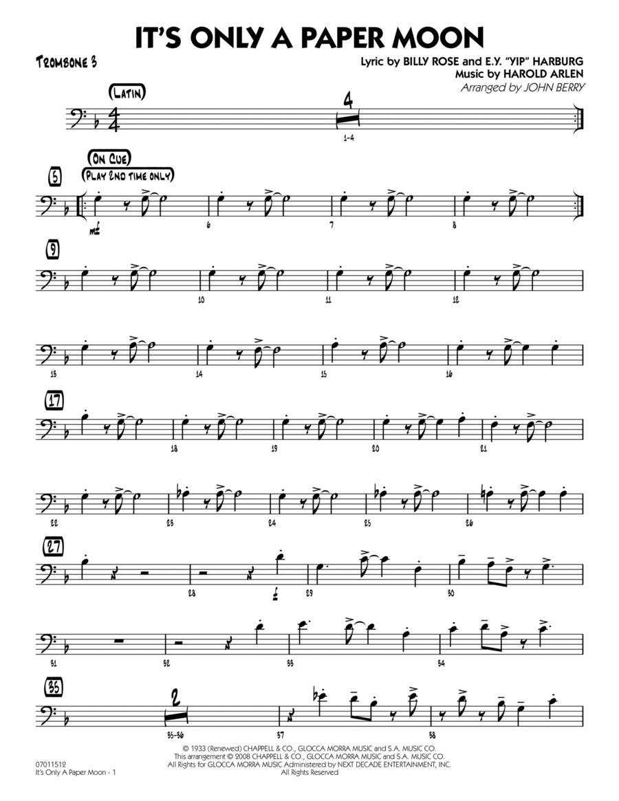 It's Only a Paper Moon - Trombone 3
