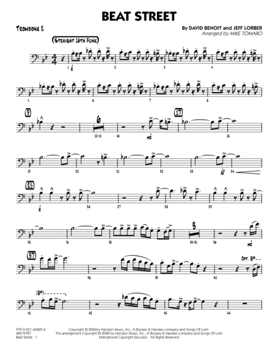 Beat Street - Trombone 2
