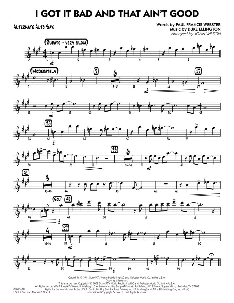 I Got It Bad and That Ain't Good - Alternate Alto Sax