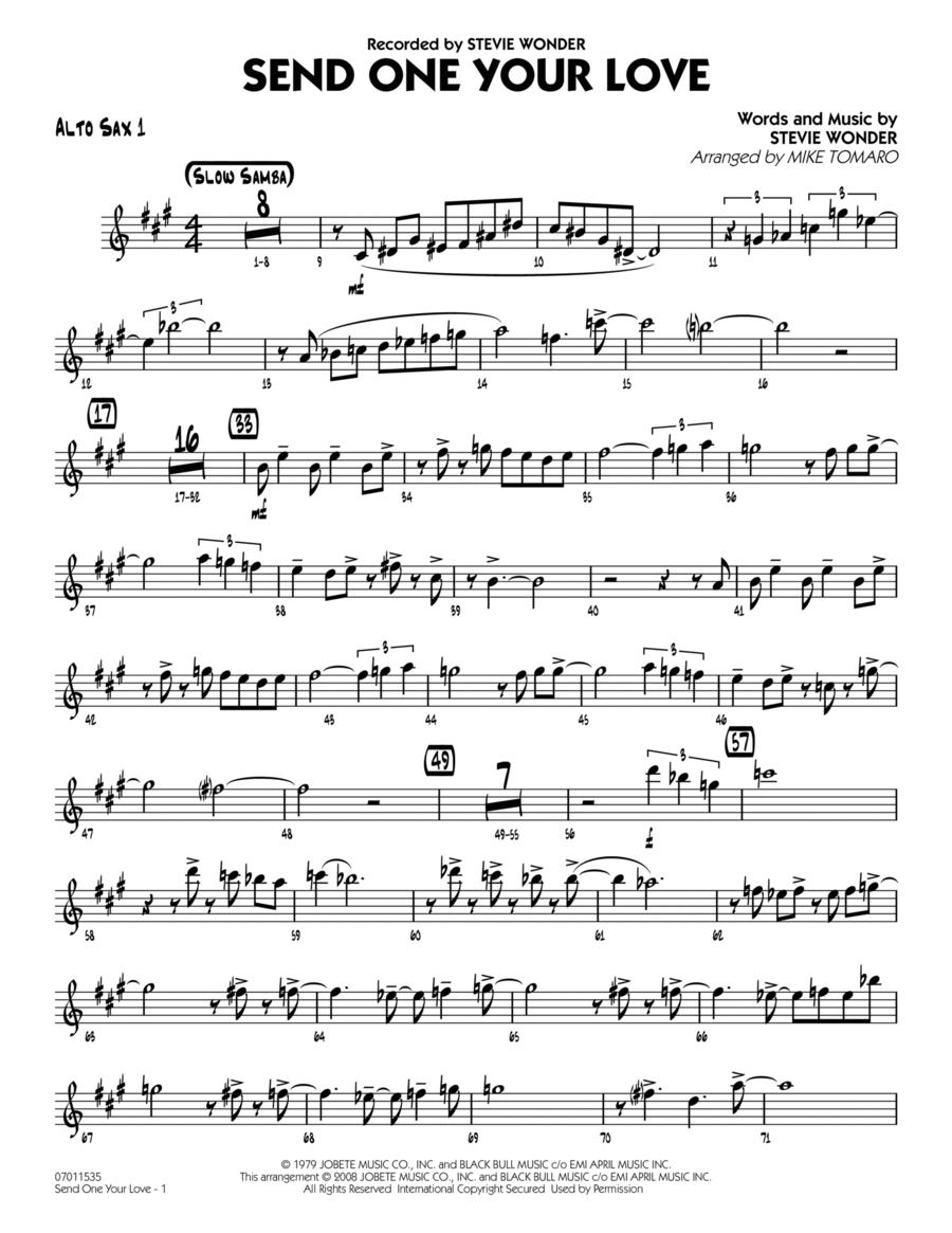 Send One Your Love - Alto Sax 1