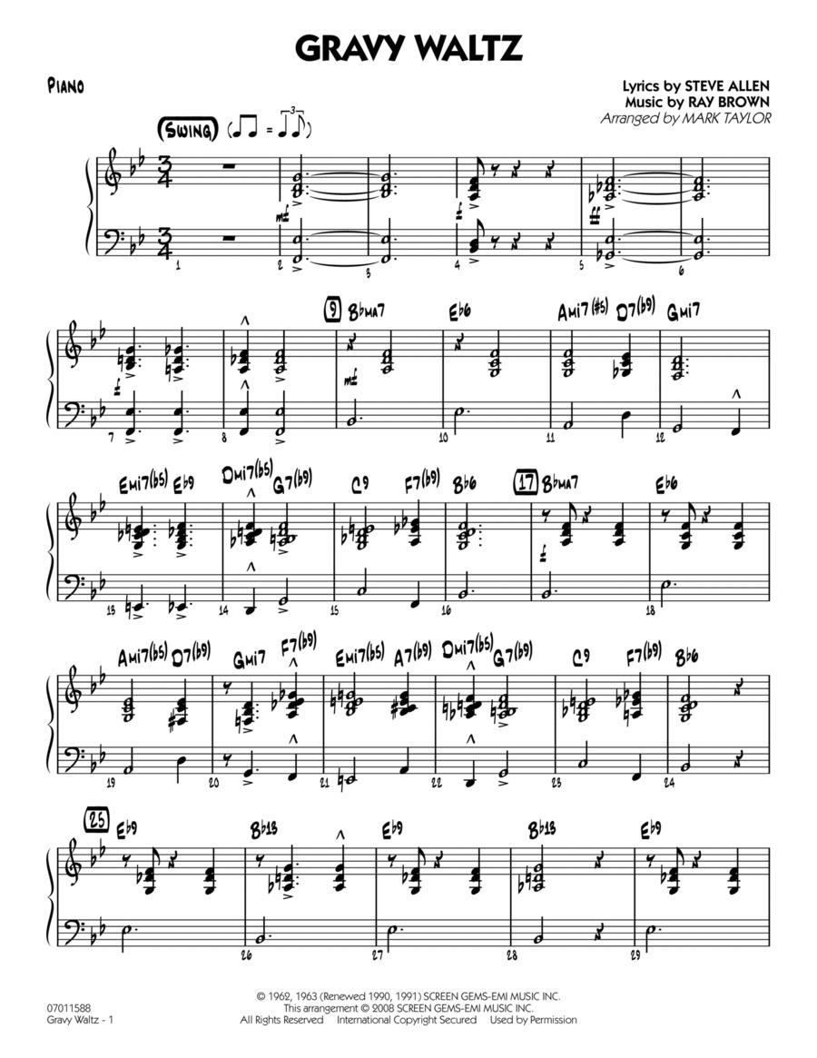 Gravy Waltz - Piano