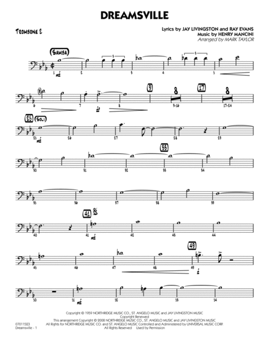 Dreamsville - Trombone 2